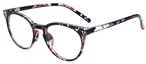n Frauen Brillengestell Männer Schwarz Brillengestell Vintage Runde Klare Linse Gläser Optische Brillengestell 1 ()