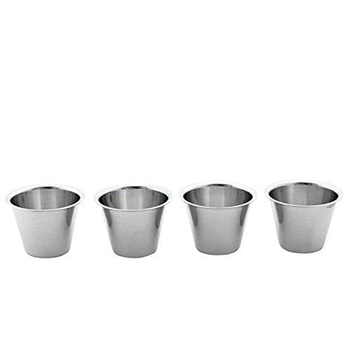 Weis Dariolform Set Durchmesser 5,6 cm, Edelstahl, Silber, 5.6 x 5.6 x 4.7 cm, 4-Einheiten