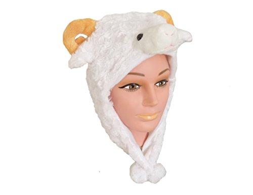 Tiermütze Plüsch Mütze Schaf (Kostüm Schaf)
