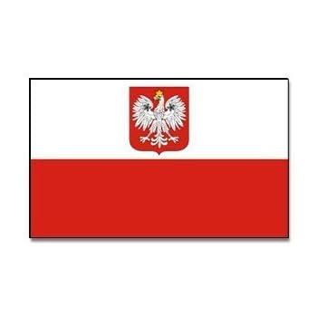 XXL Flagge Fahne Polen mit Adler 150 x 250 cm mit 2 Ösen