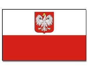 Flaggenking Polen mit Adler Flagge/Fahne, weiß, 150 x 90 cm, 16887