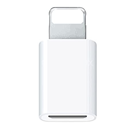 (White) 8-Pin Lightning Connector to Micro USB Converter fits iPhone 5 6 7 plus /iPad/iPod Data Sync & Charging Adapter