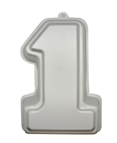 DeColorDulce Numero uno Moule, Aluminium anodisé, Argent, 27 x 19 x 5 cm