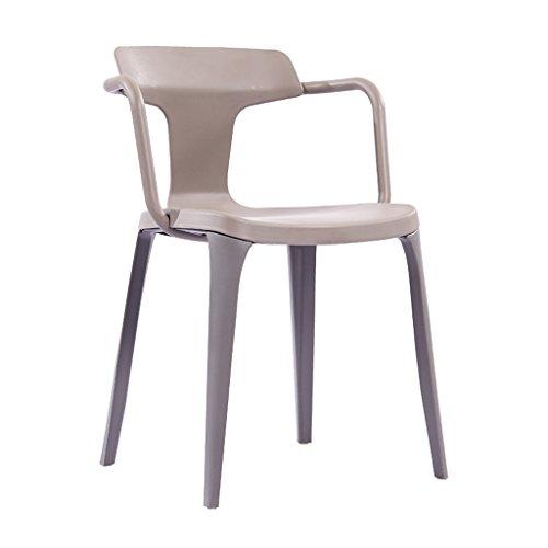 PLL Nordic Style Stuhl Einfache Kreative Casual Esszimmerstuhl Home Kunststoff Rückenlehne Sessel Restaurant Stuhl (Color : Gray)