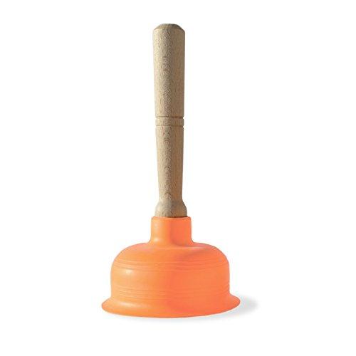 Design für Alle Fälle - Saugglocke Ausgussreiniger Abflussreiniger für Bad, Küche, Dusche und Toilette - Edel, hochwertig, funktional, vorzeigbar - Made in Italy (Klein)