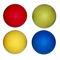 4 x Hard Rubber Dog Balls - Play n Shoot - Red, Green, Yellow & Blue