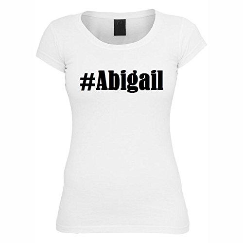 T-Shirt #Abigail Hashtag Raute für Damen Herren und Kinder ... in den Farben Schwarz und Weiss Weiß