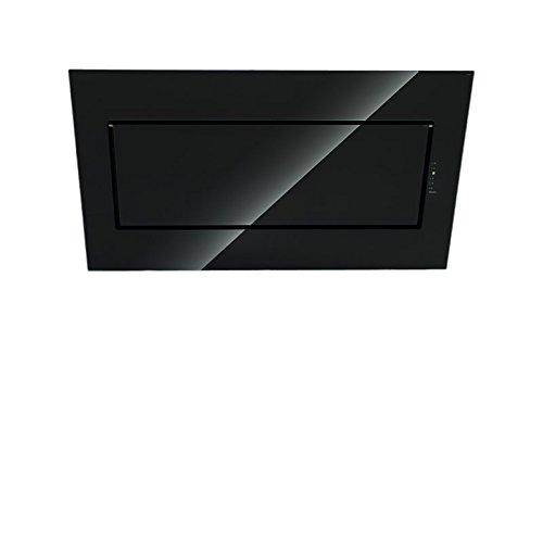Falmec Dunstabzugshaube Design Quasar Wandhaube 120 cm Glas Schwarz