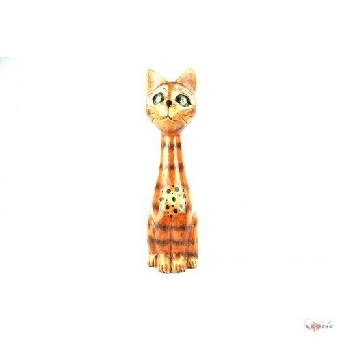 Katze Modell Sylvester aus Holz handgeschnitzt 40 cm Kätzchen Kratzbaum Kater Katzen Holzkatze