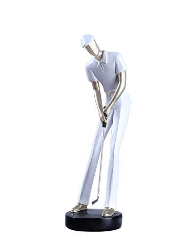 Amoy-Art Golf Golfer Golfer Decorative Figures Home Decor Figurine Sculpture Statue Art º Craft Statue Home Deco Figurine 24cmH White