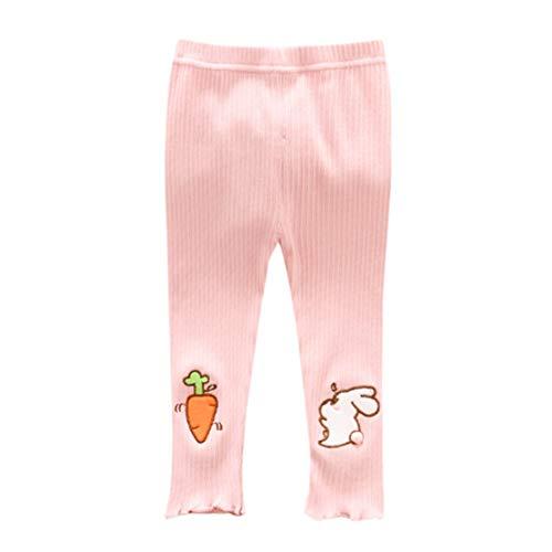 Happy Event Neugeborenes Baby Stripe Skinny Rabbit Pants Karikatur Stretchige warme Gamaschen Stricken (Rosa, 6-12 Months-6) (Rosa Boot-gamaschen)