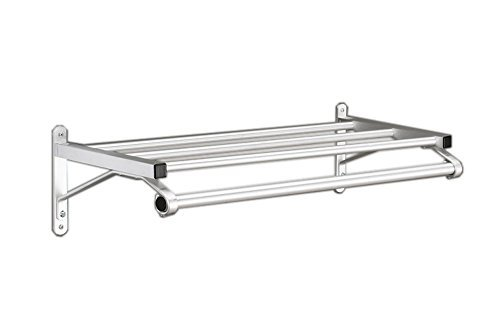 48 Wall Coat Rack (Glaro 500 SA 48 Wall Mounted Coat Rack with Shelf and Hanger Bar by Glaro)