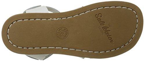 Salt Water Sandals Original Premium Kids Silver Leather Sandals White