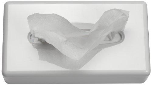 SemyTop ST-88687 Kosmetikboxen-Spender, Woll-Weiß, 255 x 130 x 70 mm