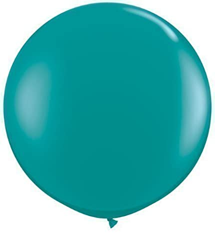 Jewel Teal Green 3ft Giant Qualatex Latex Balloons x 2 by Jewel Finish Solid Colour 3ft Latex