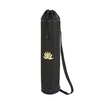YogaStudio – Bolsa para alfombra de yoga, diseño de loto (ideal para alfombra muy gruesa de tamaño estándar)