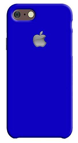 Back cover for Apple iPhone 7 | Designer case |Plain simple light blue color with apple logo iPhone 7 case| 3D Premium quality (Single color, Matte Finish,Poly-Carbonate hard plastic)