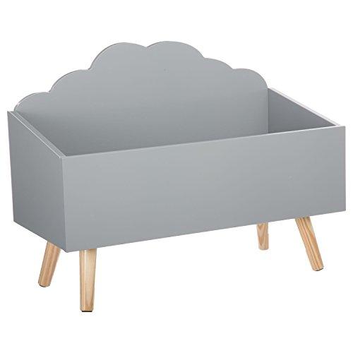 Spielzeugkiste - Wolkenform - Farbe GRAU -
