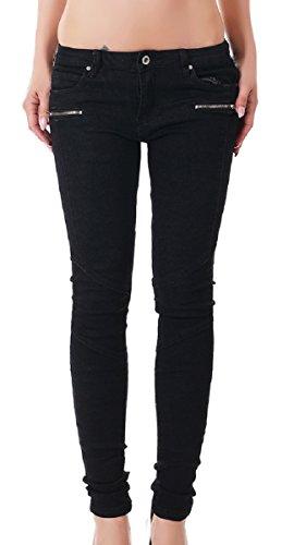 Redseventy -  Pantaloni  - skinny - Basic - Donna Nero