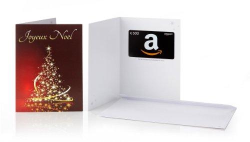 Carte cadeau Amazon.fr – €500 – Dans une carte de vœux Joyeux Noël