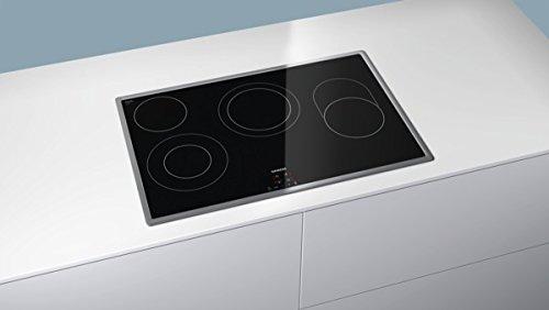 Siemens ET845HH17 iQ300 Kochfeld Elektro / 79.5 cm/touchControl-Bedienung/Digitales Funktionsdisplay/schwarz