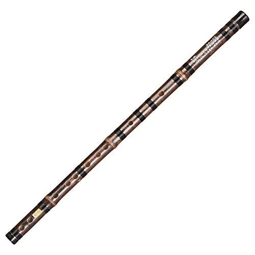 Chinesische Dizi Black Bamboo Flute Anfänger Tonart von C, D, E, F, G Traditionelles Instrument (größe : F)