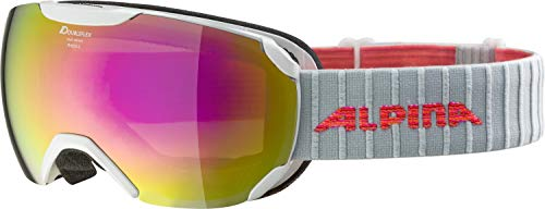 ALPINA Damen Pheos S MM Skibrille, pearlwhite, One Size