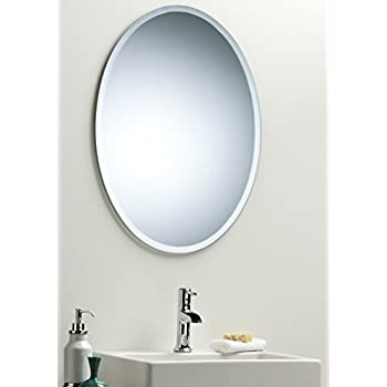 mirror frameless framed oval bathroom mirrors wooden