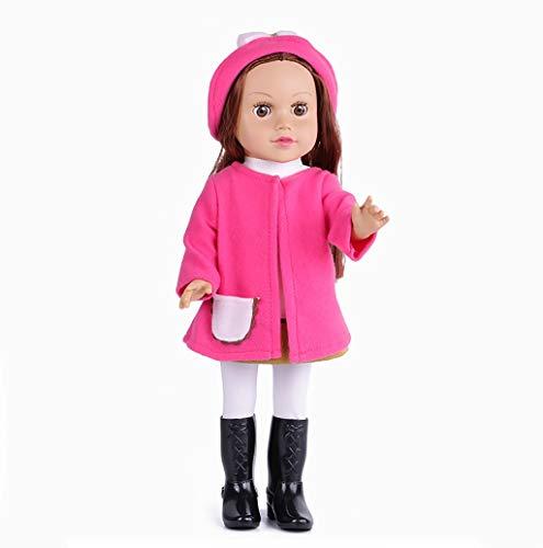 Babypuppen Fashion Dolls Reborn Babypuppen 18inch Silikon Realistic Newborn Girl Dolls Real lebensechte anatomisch korrekte Babypuppen for Weihnachten Geburtstagsgeschenk (Color : D)