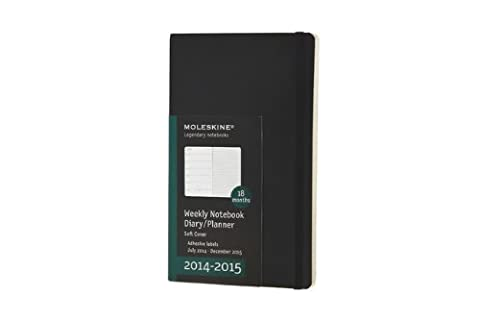 Moleskine Wochen-Notizkalender 2014/2015, Large Soft Cover,