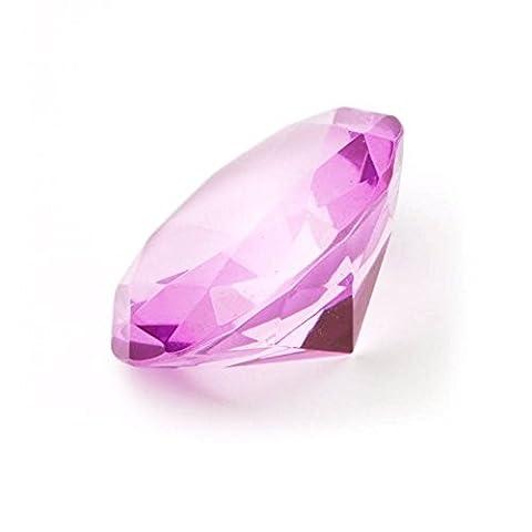 6 cm Glasdiamanten mit 96 Facetten als Deko-Diamant, Glas-Diamant in Lila
