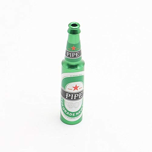 Outdoor Ausrüstung Bierflasche Form Rauchen Kraut Pfeife Innovative Tragbare Mini Kreative Tabakpfeife Metall Aluminium Kraut Rauchpfeifen Gewürz Narguile Shisha Zubehör Camping ( Color : Green ) - Viel Tabakpfeifen
