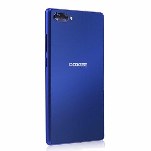 Doogee MIX 13,97 cm (5,5 Zoll) Smartphone (6GB RAM 64GB ROM Android 7.0 4G Helio P25 Octa-Kern 2,5 GHz Metallgehäuse Berührungssensor Front- und Doppel Rückkameras) Blau - 2