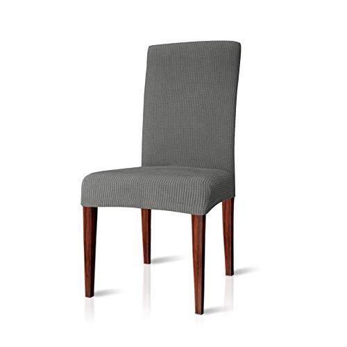 CHUN YI Jacquard Stuhlüberzug, Stuhlhusse, Stuhlbezug für Stuhl, mehrere Farben (Hellgrau, 2 Stück)