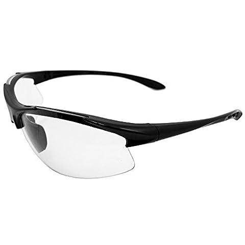 ERB 18614 Commandos Safety Glasses, Black Frame with Clear Anti-Fog Lens by ERB