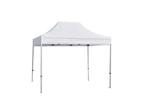INTEROUGE Tente pliante 2x3 M en Aluminium et Polyester 300g/m² Tonnelle pliante Chapiteau Barnum Blanc