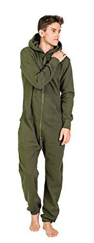 Moniz Herren Jumpsuit (L, Dunkelgrün) (Sweat Anzug Kostüm Für Erwachsene)