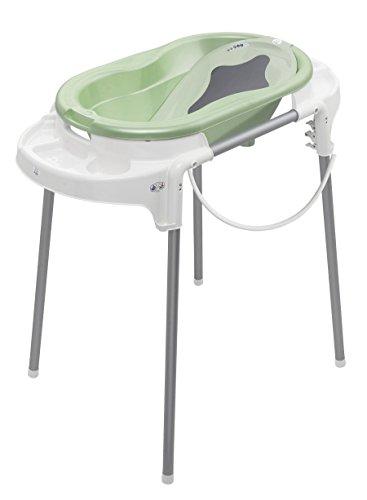 rotho-babydesign-badestation-top-100-cm-breite-babywanne-lindgrun-perl-mit-aufbewahrungsfacher-badew