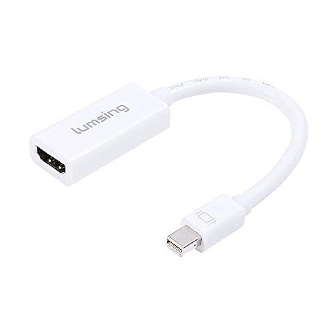 Lumsing Mini Displayport (Thunderbolt-Port kompatibel) Mini-DP 1.2 zu HDMI 1.4-Adapter für Mac Book, Imac und mehr, DP v1.2 Unterstützung 4Kx2K 6ft / 1.8M in