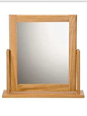 Square Oak Effect Dressing Table Mirror (662401499)