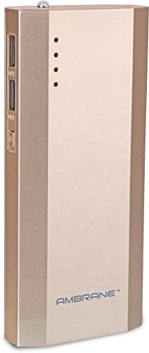 Ambrane Power Bank P-1111 (10000 mAh) Gold  available at amazon for Rs.699