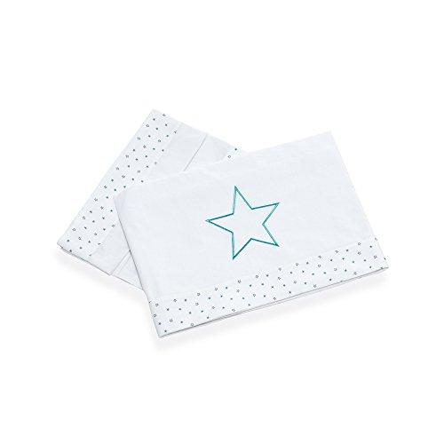 Alondra Mare 181 - Sábanas minicuna con estrellas infantiles, 3 piezas, color blanco