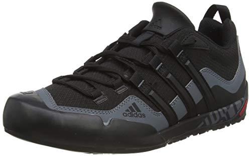 adidas Originals Unisex-Erwachsene Adidas Terrex Swift Solo D67031 Outdoor Fitnessschuhe, Schwarz (Black/BLACK/LEAD), 49 1/3 EU