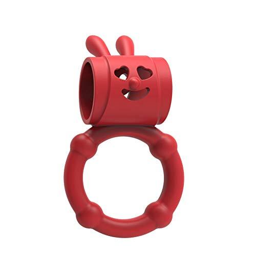 Sexspielzeug Für Frau Masturbation Vibratoren Analplug Sprung Eier Dildo Riou 3 Bunny Vibrator Ring Verzögerung Lock Cockring Penis Ring Klitoris Stimulator Sex Spielzeug (Freie Größe, Rot)