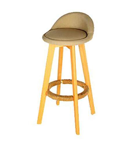 BHDLP Einzelner Stoff Sofa Stuhl Nordic Bar Stuhl Barstuhl moderner minimalistischer IKEA Vorderschreibtischhocker
