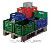 Euro-Transport und Lagerbehälter, Wände durchbrochen, grau, 600x400x320 mm (LxBxH)