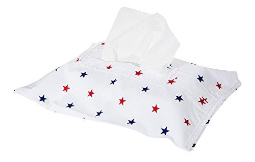 Vizaro - astuccio per salviettine detergenti baby - porta salvietti - 100% cotone - prodotto in ue con controllo di sostanze nocive - prodotto sicuro: il neonato lo può succhiare senza rischi - collezione casette sulla spiaggia