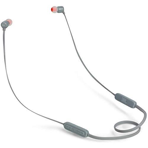 JBL Tune110BT In-Ear Bluetooth-Kopfhörer in Grau - Kabellose Ohrhörer mit integriertem Mikrofon - Musik Streaming bis zu 6 Stunden mit nur einer Akku-Ladung
