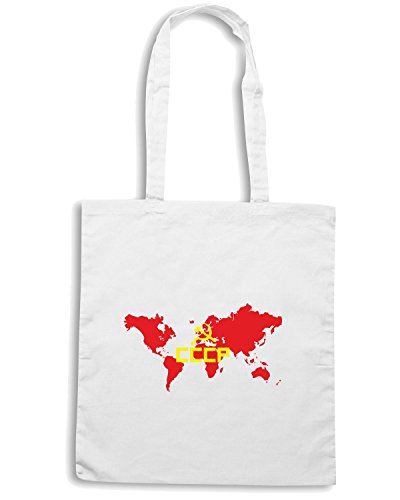 T-Shirtshock - Borsa Shopping TCO0042 cccp-communist Bianco