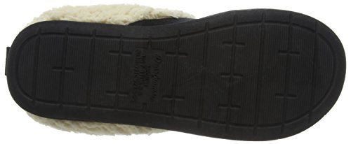 Dearfoams Microsuede Clog With Whipstitch And Memory Foam, Pantofole Donna Nero (Nero 00001)
